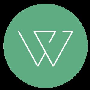 Green circle with logo.